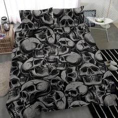 Are you looking for unique bedding sets for adults? We got you covered. All of our bedding sets have unique designs such as gothic bedding sets, skull bedding sets and more. Our bedding sets are super-soft, comfortable, and perfect for any season. Each bedding set comes with a duvet cover and 2 pillow covers. Blue Bedding Sets, King Bedding Sets, Gothic Bed, Unique Bedding, Modern Warfare, Pillow Covers, Skull, Pillows, Design