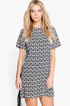 Doina Geo Print Shift Dress