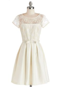 Finespun Florals Dress, #ModCloth  I LOVE MOD CLOTH!!! If Jeff and I renew our vows I would so wear something like this!!! SOOOOO adorable.