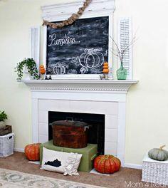 Mantel  Decorations : IDEAS &  INSPIRATIONS : Fall Mantel Decor