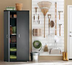 Martha stewart garage and cabinets on pinterest for Martha stewart garage organization