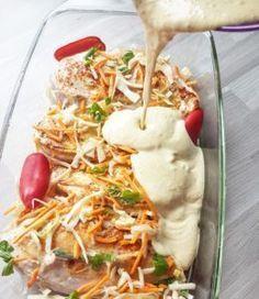Kyllingform med mangochutney og karri