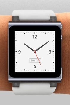 Apple - iPod Nano Watch I like it, but will like it more with they introduce a wi-fi bluetooth enabled model ❤