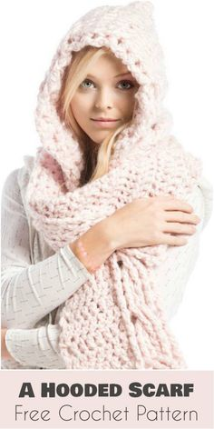 In some cases, a knit scarf is insufficient to fight the cold weather. Fortunately there's an adaptable two-in-one accessory that has all advantages of a scarf and a hat in one: a hooded scarf. It wan't mess your hair up like a cap often does. You will stop worrying about lost hats from now on, and will have to carry fewer accessories with you at a time. All pros, no cons - just crochet it! The link to the free pattern is below. For more free patterns follow YOUR CROCHET on Facebook a...