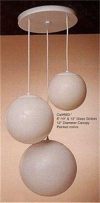 3 White Globe Pendant Lighting