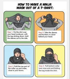 How to make a ninja mask :3