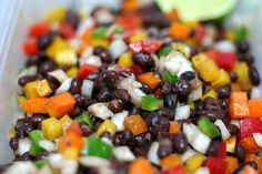 Black bean confetti salad--cool, cumin-y, and delicious