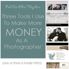 Three tools I use to make more money as a photographer. (via Steel Toe Images) View this at: http://steeltoeimages.com/make-more-money-as-a-photographer/