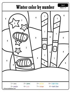 Free winter preschool printables - winter color by numbers worksheets. Fun winter coloring pages with learning letters and numbers. Leaf Coloring Page, Coloring Pages For Kids, Preschool Printables, Numbers Preschool, Preschool Curriculum, Free Preschool, Free Printables, Homeschool, Color By Number Printable