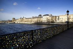 The Pont des Arts (6th), Paris. Where lovers pledge their undying love on padlocks, & attach to the railings, for the world to see.