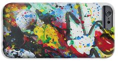 IPhone Case featuring the painting Abstract-9 by Katerina Stamatelos