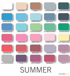 """""""Summer Colour Analysis""""---The link is no good, but these are nice examples of summer """"brights."""""""