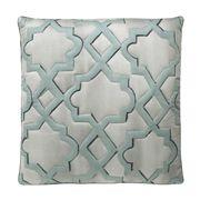 """Limited Production Design: 24"""" Aloe Velvet Fretwork Pillow"""