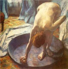 Degas, The Tub, 1886.   Technique: pastel Dimensions: 70 x 70 cm