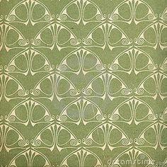 Gebruikt Uitstekend Behang In Groen Stock Afbeelding - Beeld: 13824311