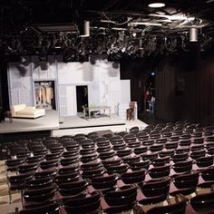 The Hertz Stage - blackbox theatre at the Woodruff Arts Center. A must-visit for a bonafide underground theatre experience!