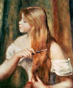 Renoir, Pierre-Auguste : Mädchen beim Kämmen