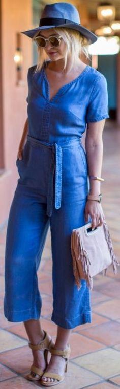 Wearing: Jumpsuit : Club Monaco, shoes : Lacoste, bag – Maje, sunglasses : Karen Walker, hat : Free People, bracelet : COS, watch : The Horse | Denim Daze |Late Afternoon Blog  - Denim Daze » Late Afternoon Blog #wearing