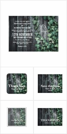 Rustic Ivy Wedding Collection