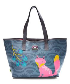 Look what I found on #zulily! Gray Fox Critter Tote #zulilyfinds