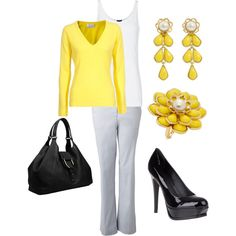 Yellow's everywhere this spring!  This look is classic and easy on the budget.