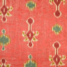 Cranberry Ikat Velvet
