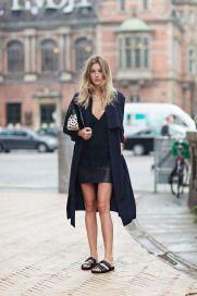 Wearing Birkenstocks and being IN STYLE! #totalblack
