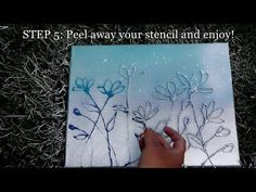 How to Make HOT GLUE FLOWER STENCILS - YouTube
