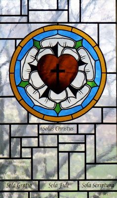 Lutheran Rose Stained Glass