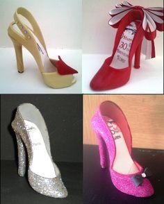 Gum paste shoe / sugar paste Shoe / Cake Topper / Gift / Cake Decoration. $28.00, via Etsy.