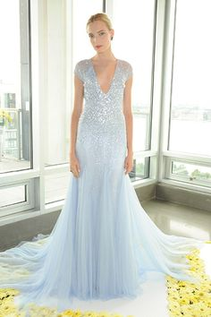 Gown by Pamella Roland.Check out more gorgeous dresses in our wedding gown gallery ►