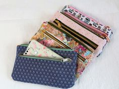 Make-up bags Nanami sew Sewing Tutorials, Sewing Crafts, Sewing Projects, Sewing Patterns, Sewing Ideas, Diy Mode, Wallet Tutorial, Creation Couture, Sewing Accessories