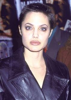 Angelina Jolie, American actress, humanitarian, 1997. Gia Marie Carangi in HBO's Gia