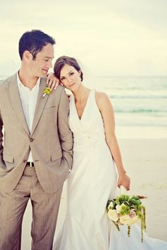 46 Cool Beach Wedding Groom Attire Ideas | Weddingomania- future vow renewel