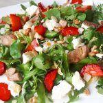 A Kitchen Hoor's Adventures: Fried Chicken Salad Noodle Recipes, Pork Recipes, Keto Recipes, Fried Chicken Salads, Tenderstem Broccoli, Lchf, Family Meals, Feta, Potato Salad