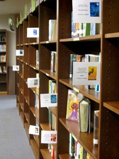 Shelf markers for available ebooks