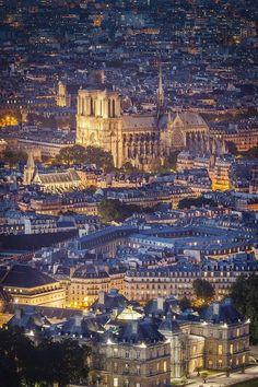 Paris at night, a city of lights.....reépinglé par Maurie Daboux ❥•*`*•❥