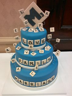 Scrabble Cake - love this