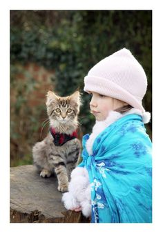Iris Grace and her cat Thula. See Iris Grace painting on Facebook