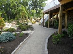 Cambridge Pavingstones with ArmorTec offers pavings options for patios, pools, walkways, driveways, landscape walls and outdoor living solutions. Paver Pathway, Walkways, Paving Stones, Landscape Walls, Cambridge, Outdoor Living, Entryway, Sidewalk, Landscapes