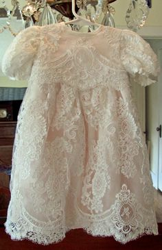 Sew Country Chick: Making Alencon lace seams McCall's 6221 Baptism dress