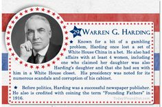 100+ Facts About US Presidents 29- Warren G Harding