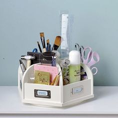 What a great idea - using a caddy for those regularly used items. This will save me loads of time looking under a mountain of craft materials for my scissors/tape/pen etc