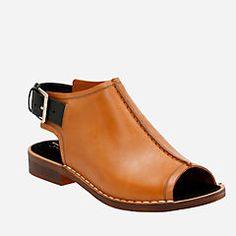 6fbf1b3068b27 Cabaret Charm Tobacco Leather Clarks Sandals