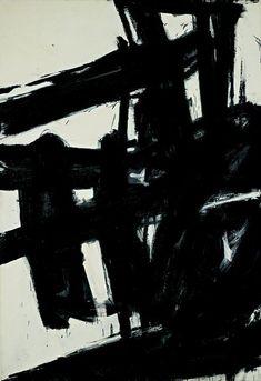 "Franz Kline (American): Oil Painting, ""Turbin"" [National Gallery of Art, Washington, D. Franz Kline, Willem De Kooning, Abstract Oil, Abstract Landscape, Abstract Expressionism, Abstract Paintings, Oil Paintings, Painting Art, Landscape Paintings"