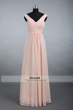 Custom Elegant Chiffon Bridesmaid Dress, Straps V-neck Floor Long Chiffon Bridesmaid Dress A-line Blush Bridesmaid Dresses on http://okbridal.storenvy.com/collections/977676-bridesmaid-dresses/products/11483163-navy-blue-bridesmaid-dresses-long-bridesmaid-dresses-chiffon-bridesmaid-dr