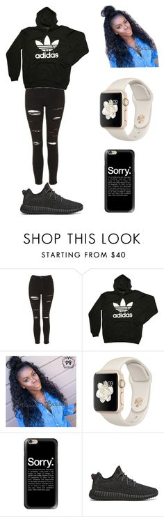 """Untitled #1148"" by qveenkyndall16 ❤ liked on Polyvore featuring Topshop, adidas, Casetify and adidas Originals"
