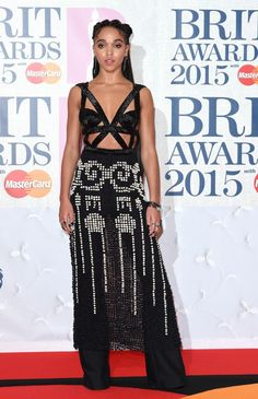 FKA Twigs in Alexander McQueen at the 2015 Brit Awards