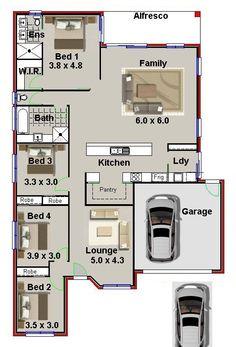 35 best 4 bedroom house plans images floor plans home plans rh pinterest com