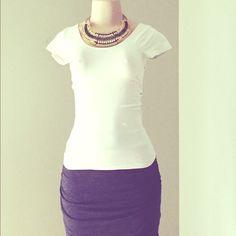 White stretchy tee Great condition! 92% nylon, 8% spandex Nikibiki Tops Tees - Short Sleeve